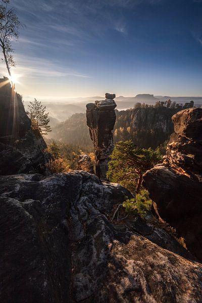 Sonnenaufgang in der Sächsischen Schweiz von Thomas Weber