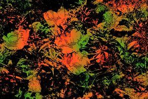 Blumenbeet abstrakt