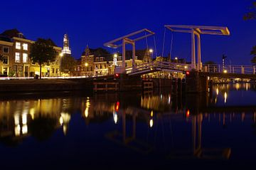 Alte Kanalbrücke in Haarlem von Reinhard  Pantke