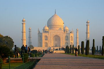 Taj Mahal an einem frühen Morgen von