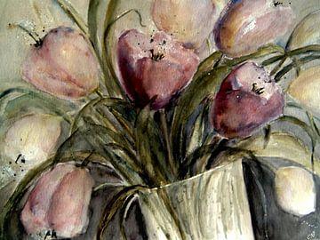 Tulpen in Vase von Christine Nöhmeier