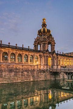 Zwinger building, Dresden van
