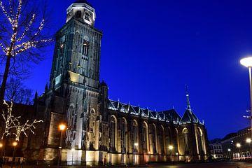 Grote- of Lebuinuskerk in Deventer van Gerard de Zwaan