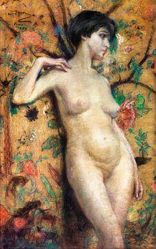 Nackt vor der Leinwand, Alice Pike Barney (1911) von Atelier Liesjes
