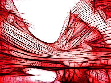Symmetrie in het rood van Karl-Heinz Lüpke