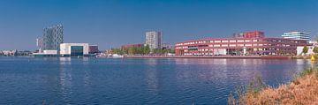 Almere Skyline de Esplanada met Flovoziekenhuis. van Brian Morgan