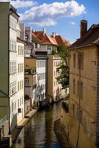 Stadsgezicht in Praag van