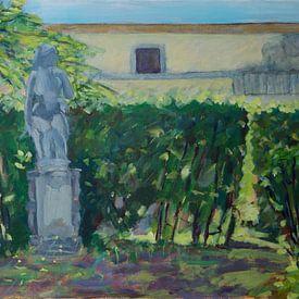 Beeld in park van Antonie van Gelder Beeldend kunstenaar