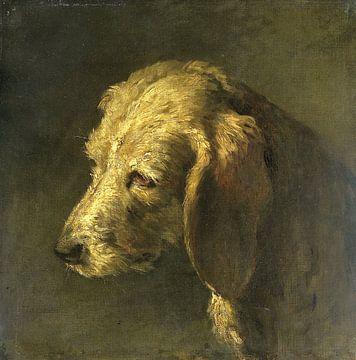 Head of a Dog, Nicolas Toussaint Charlet sur