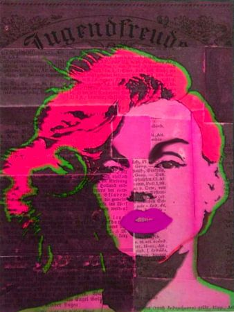 Marilyn Monroe Newspaper Pop Art No. 3