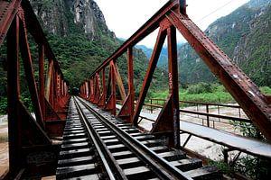 Treinspoor naar Machu Picchu van