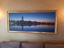 Kundenfoto: Morgenlicht der Skyline von Deventer von Tom Smit, auf leinwand
