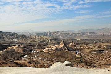 Cappadocie/ Capadocie/ Capadocia/ Cappadocia Turkije puntig  zandlandschap van Paul Franke