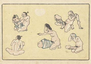Verbonden penis, Kawanabe Kyôsai