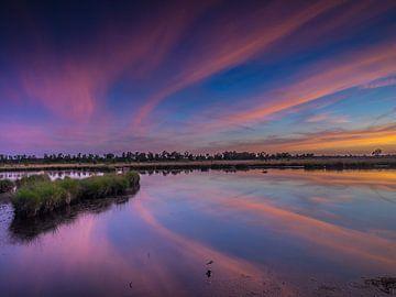 Zonsondergang op de Kalmthoutse Heide van Henk Goossens