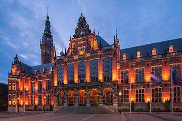 Academiegebouw, Groningen, Nederland van Henk Meijer Photography
