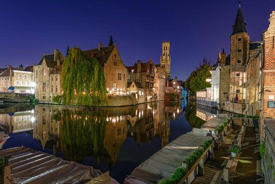 Het Bleu-huis 's nachts, Brugge