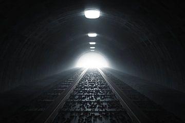 Licht am Ende des Bahntunnels von Besa Art