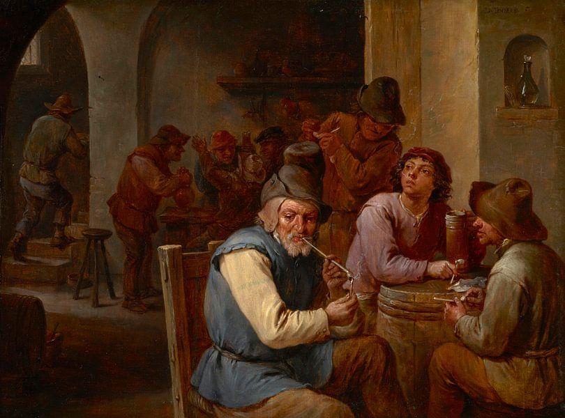 Der Country-Pub, David Teniers II von Meesterlijcke Meesters