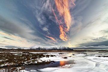IJslandschap van de Lofoten