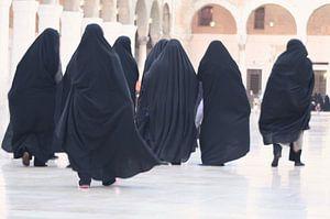 Gesluierde vrouwen in Damascus