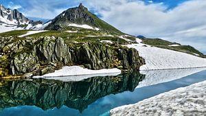 Berg en Spiegeling op de Nufenenpas