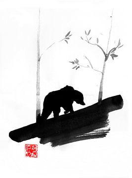 ours dans la forêt sur