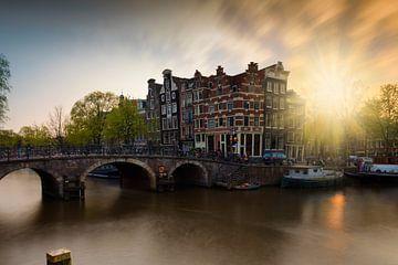 Amsterdamse grachtenpanden aan de Brouwersgracht von gaps photography