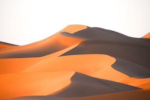 Vlammende Zandduinen in de Sahara