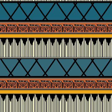 Navajo-Muster Azteke Abstrakt 8 von Rudy en Gisela Schlechter