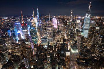 New York Skyline (USA) de nuit sur André van der Meulen