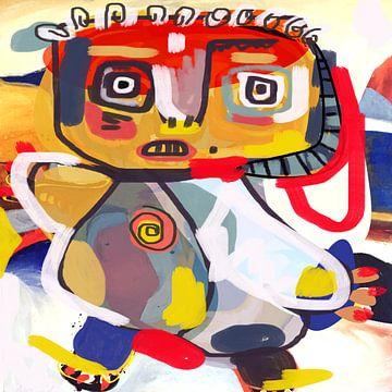 CoBrA stroming schilderij Theodoor van Nicole Habets