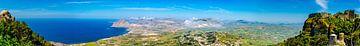 Panorama auf die Bucht in Erice, an der Nordküste von Sizilien von Rietje Bulthuis