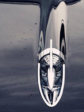 Voiture américaine classique 1957 Bel Air Hood Rocket