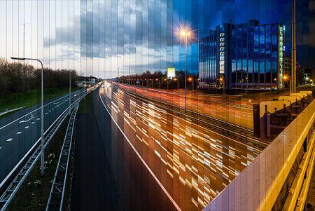 Time slice A2 IJsselstein/Nieuwegein, Niederlande.