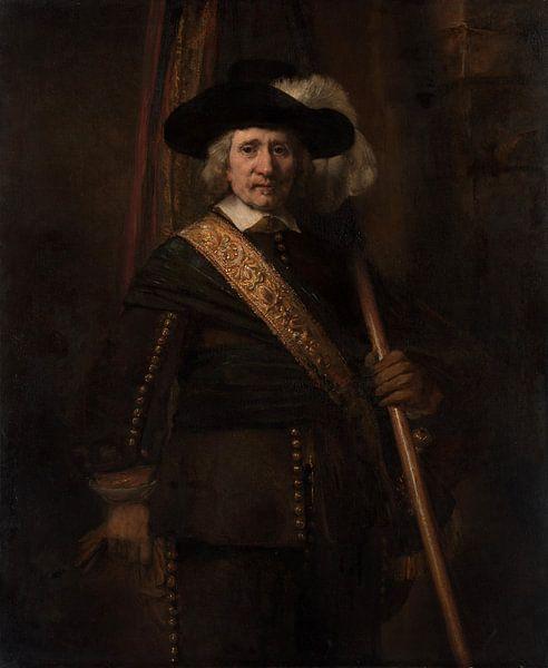 De Standard Bearer, Rembrandt van Rembrandt van Rijn