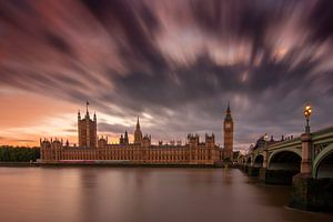 London Parliament Long Exposure van Bert Meijer