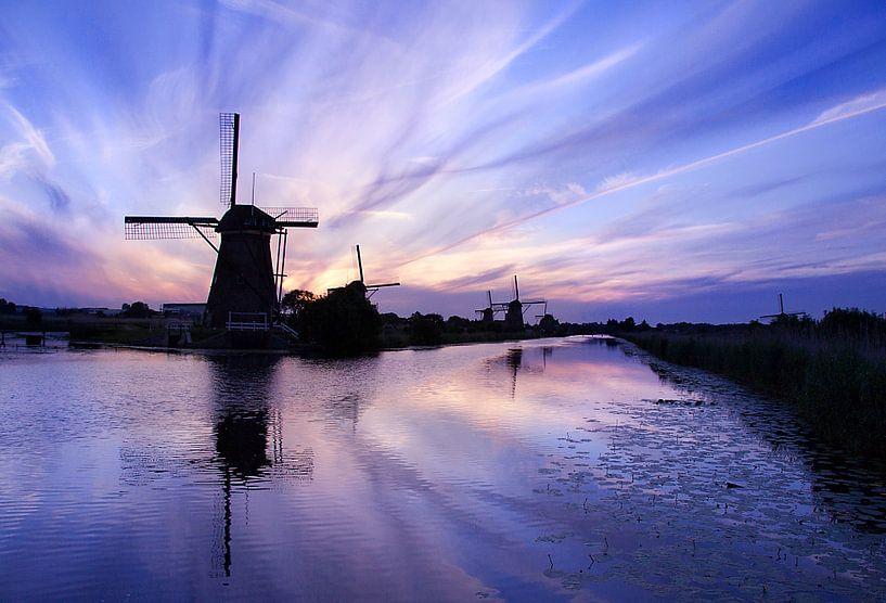 Kinderdijk Evening Blues van Halma Fotografie