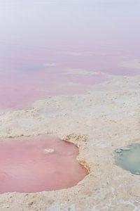 Roze zoutmeer van Torrevieja van