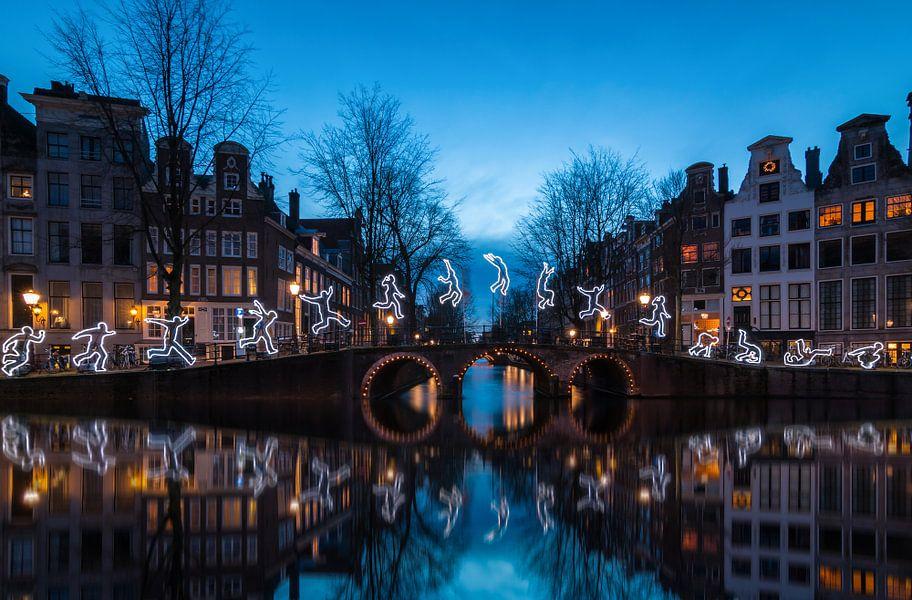 Amsterdam light festival van Ilya Korzelius