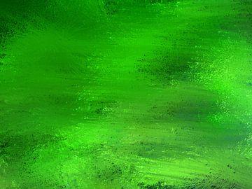 Abstract basse pointillism in groene tinten