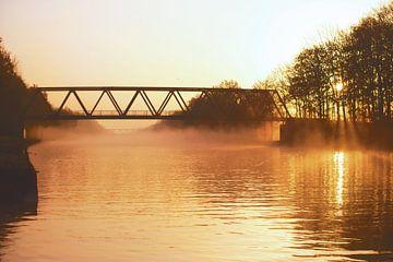 Herfstwandeling langs het Mittellandkanaal van Tanja Riedel