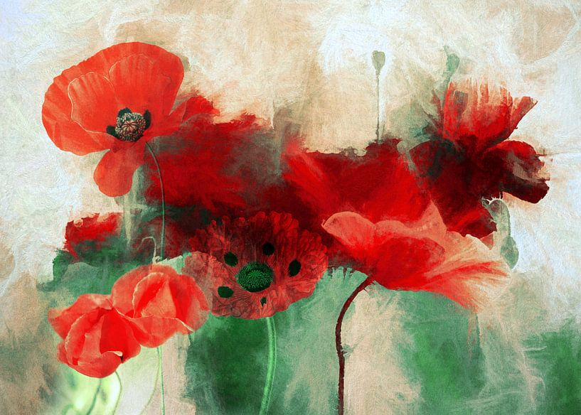 Poppy Abstract van Jacky Gerritsen
