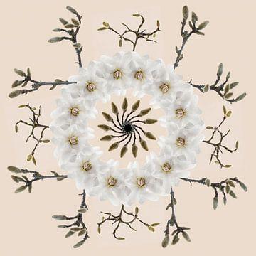 magnolia krans/mandala van Klaartje Majoor