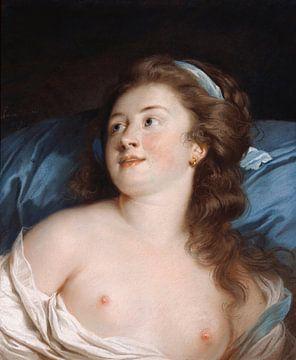 Boezem of borst van een jonge vrouw van Atelier Liesjes