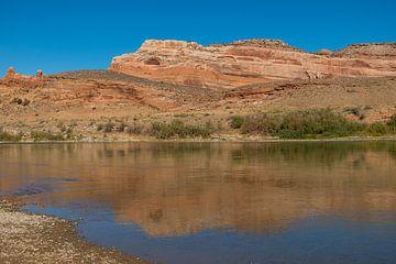 Colorado rivier in Utah von Richard van der Woude