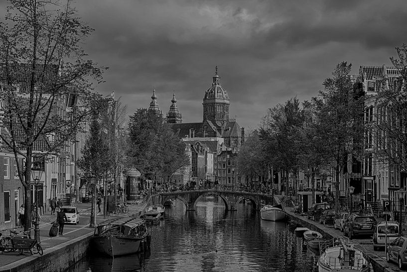 Oudezijds Achterburgwal Amsterdam van Peter Bartelings Photography