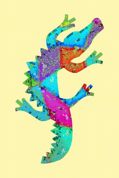 Mosaik Krokodil von Marion Tenbergen
