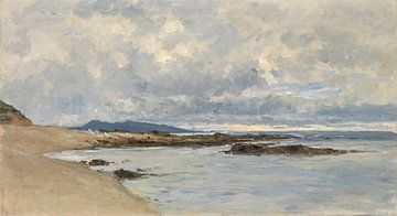 Küstenlandschaft von Carlos de Haes, Antike Landschaft