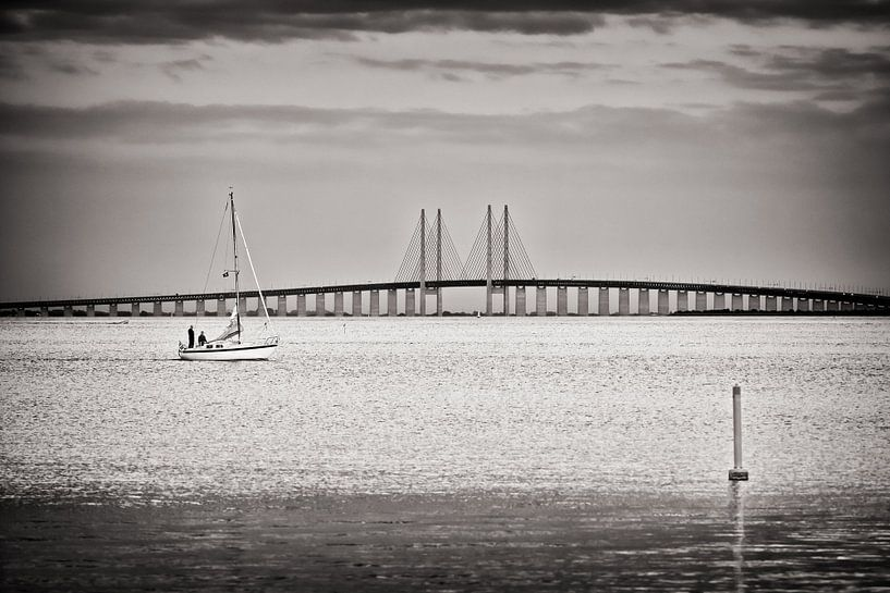 Black and White Photography: Øresund Bridge van Alexander Voss